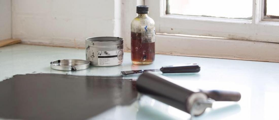 7 suns printmaking: green printmaking studio that offers classes, workshops, and studio membership