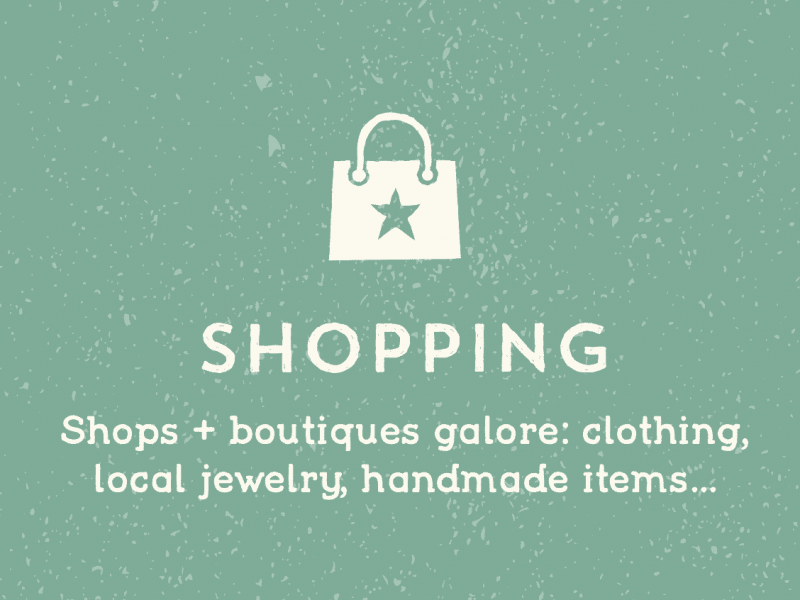 Shops in Warren: Shops + boutiques galore: clothing, local jewelry, handmade items