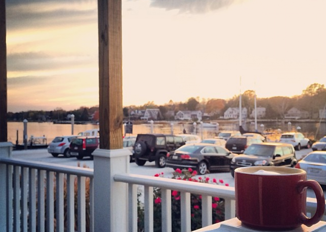 Cafe Water Street: Coffee and crepes by the seashore in Warren, Rhode Island